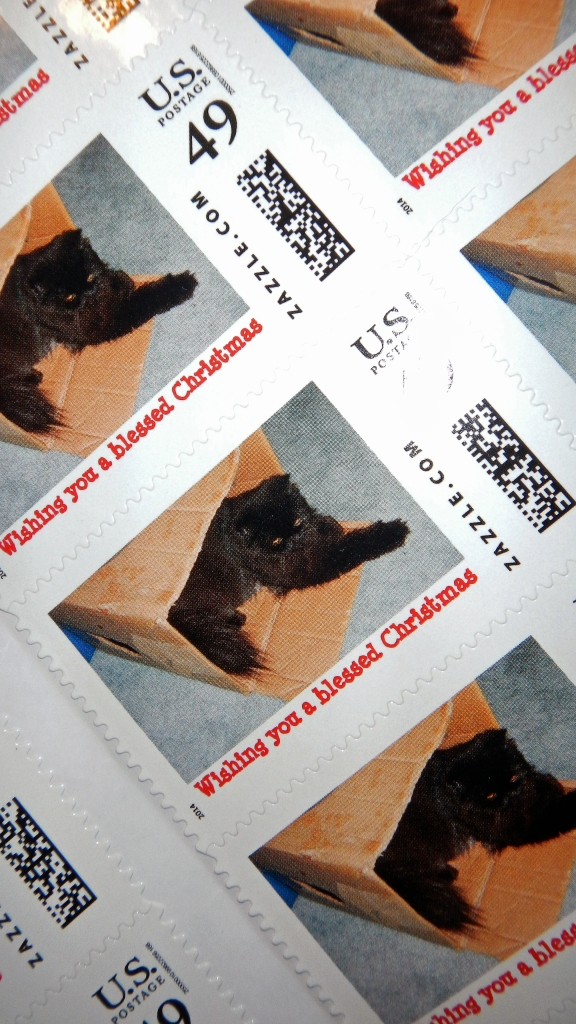 Christmas stamps. They came yesterday...!