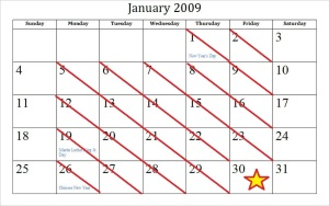 Hmm. January 30, 2015 is a Friday, too!