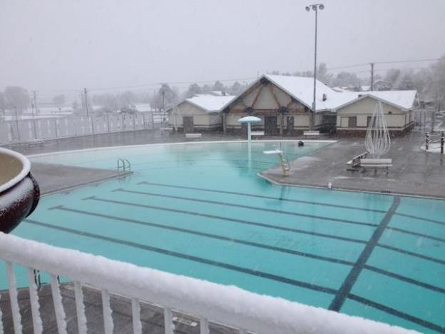 alliance pool after snow