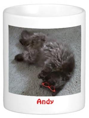 Andy can mug, too!