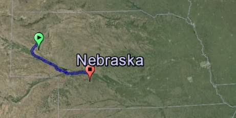 Alliance to North Platte and back: 384 miles round trip.