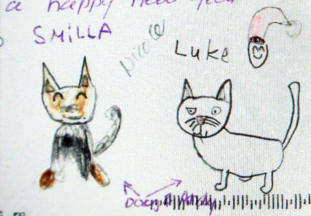 Mystery solved: Smilla and Luke are Nicole's children, and they are the inspiration for the video I made using Louie the Ginger Cat's photos.