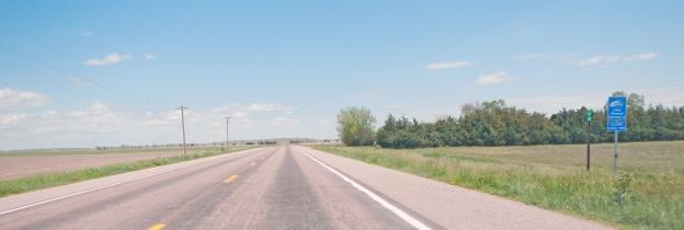 Nebraska Highway 2 east of Alliance is straight as an arrow till you hit the Sandhills.