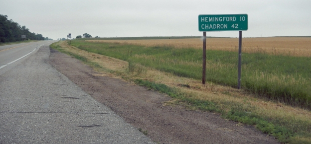 The 16 Mile Corner is, well, 16 miles from Alliance. It crosses over to Hemingford, west, or the intersection of US 385, south.